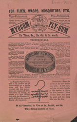 Advert for Myocom Fly Gum